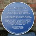 Holmehurst plaque in Loughton