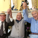 Loughton Boys Sir Ben Helfgott, Janek Goldberger and Harry Spiro