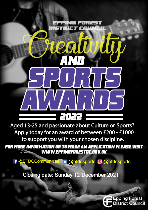 Creativity and sports awards 2022 poster