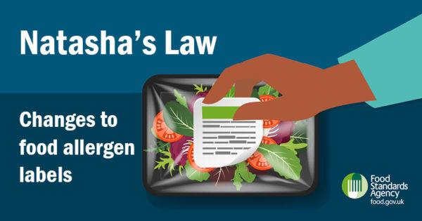 Natasha's Law - Changes to food allergen labels