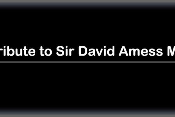 Tribute to Sir David Amess MP